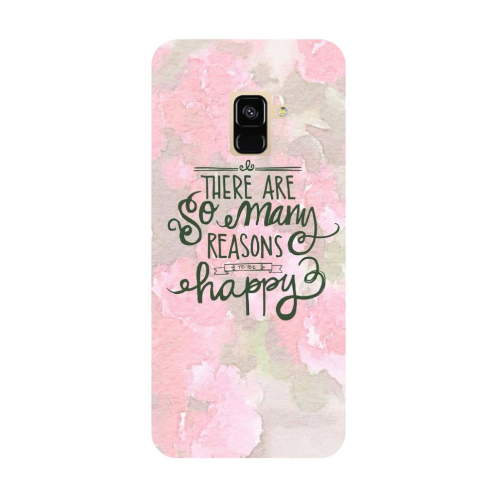 Be Happy- Printed Hard Back Case Cover for Samsung Galaxy A6 (2018)