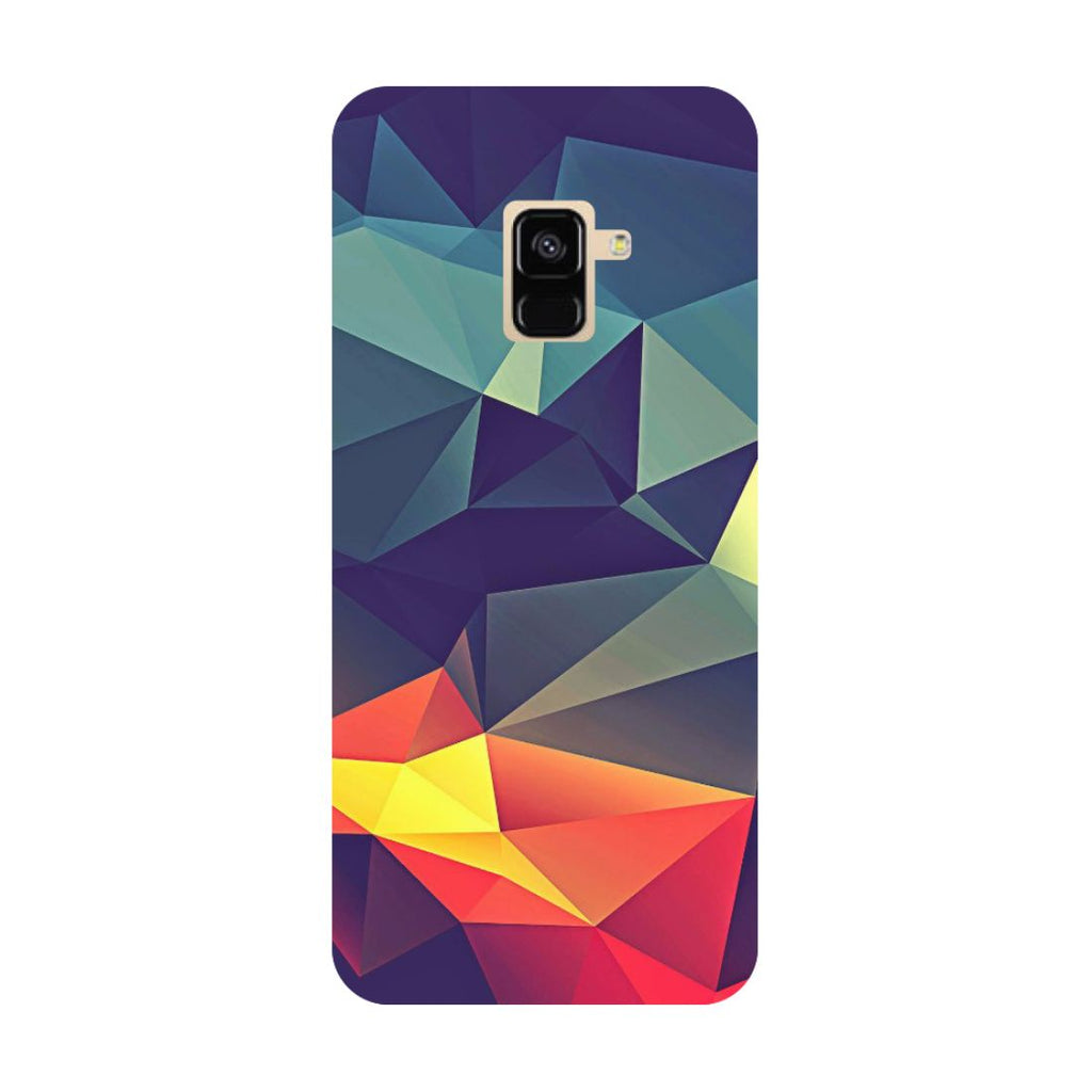 Abstract- Printed Hard Back Case Cover for Samsung Galaxy A6 (2018)