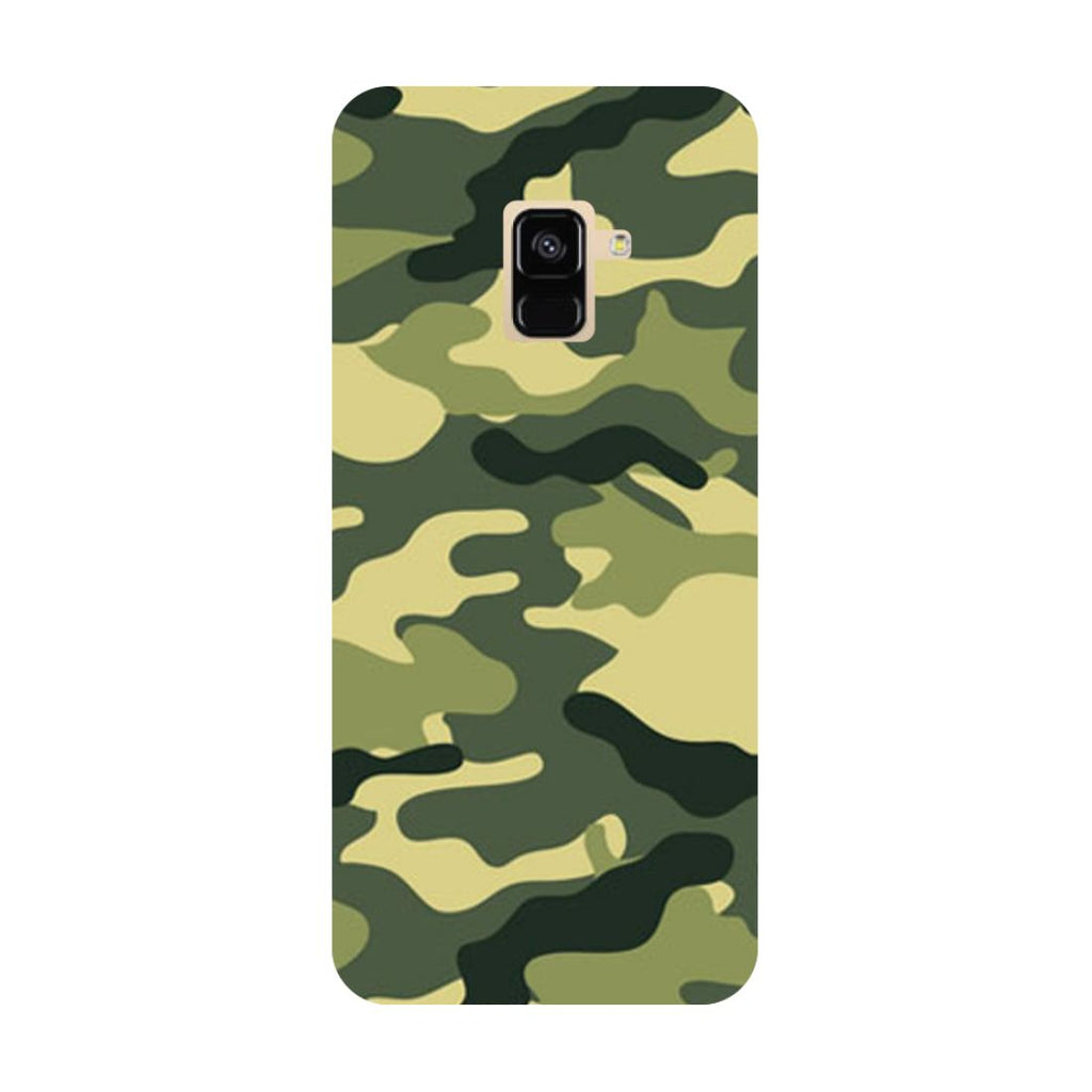 Army Camouflage- Printed Hard Back Case Cover for Samsung Galaxy A6 (2018)-Hamee India