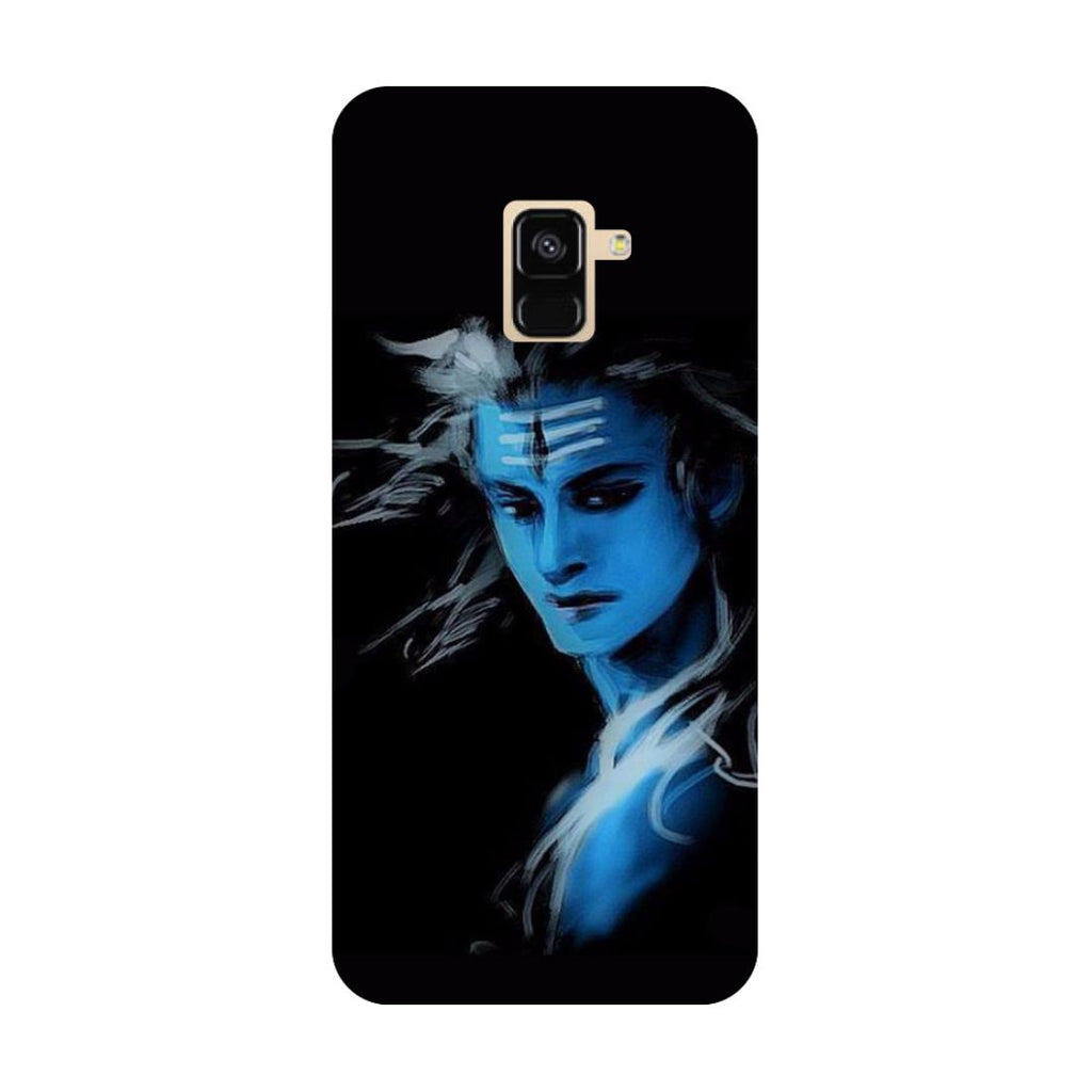 Blue black Shiva- Printed Hard Back Case Cover for Samsung Galaxy A6 (2018)