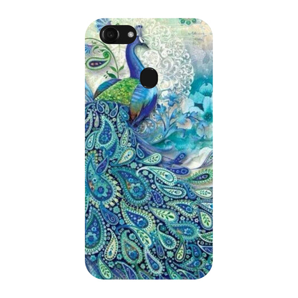 Hamee - Blue Peacock - Designer Printed Hard Back Case Cover for Oppo F5