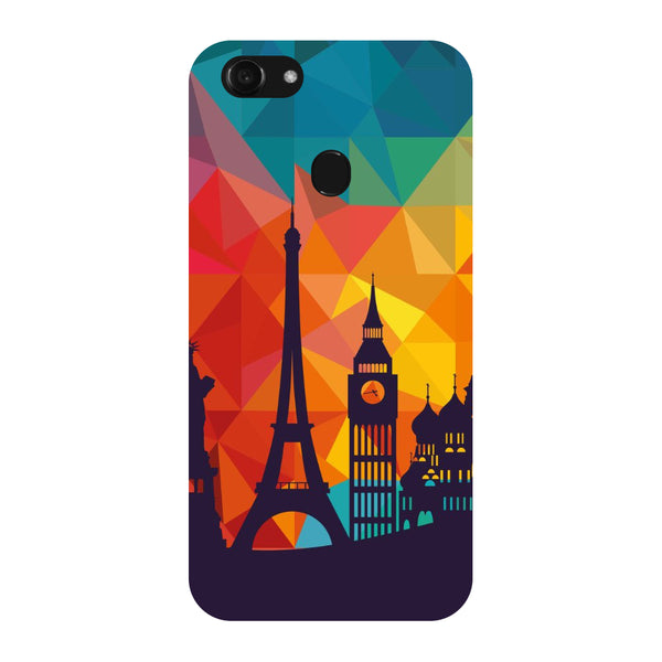 Hamee - City Life - Designer Printed Hard Back Case Cover for Oppo F5