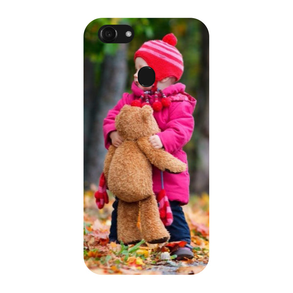 Hamee - Teddy Bear - Designer Printed Hard Back Case Cover for Oppo F5
