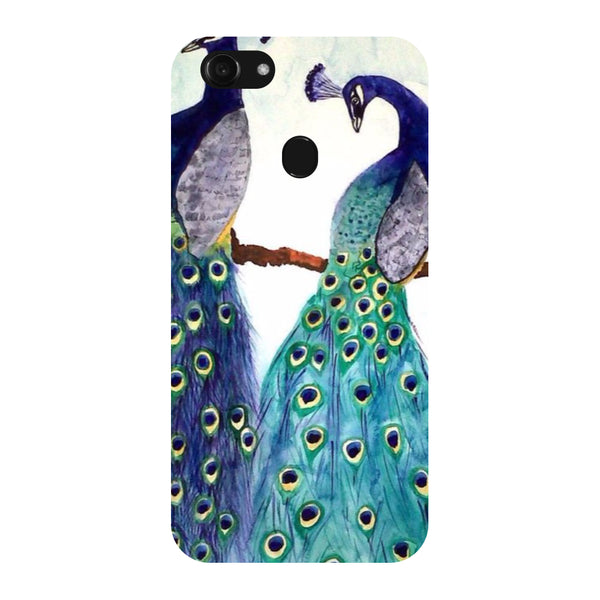 Hamee - Peacock Pair - Designer Printed Hard Back Case Cover for Oppo F5