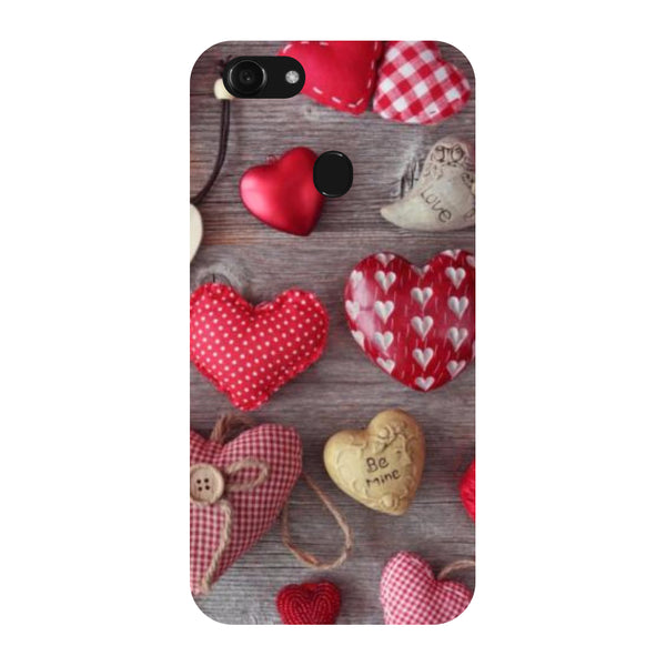 Hamee - Hearts & Love - Designer Printed Hard Back Case Cover for Oppo F5