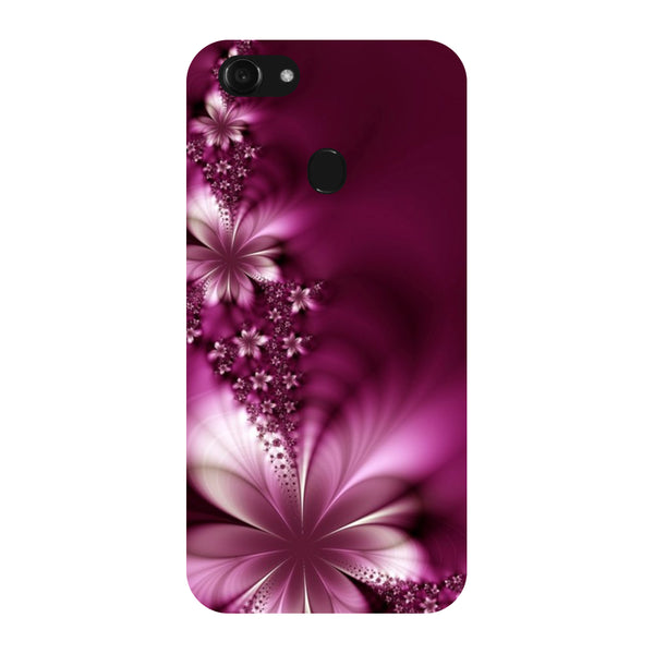 Hamee - Purple Flower - Designer Printed Hard Back Case Cover for Oppo F5