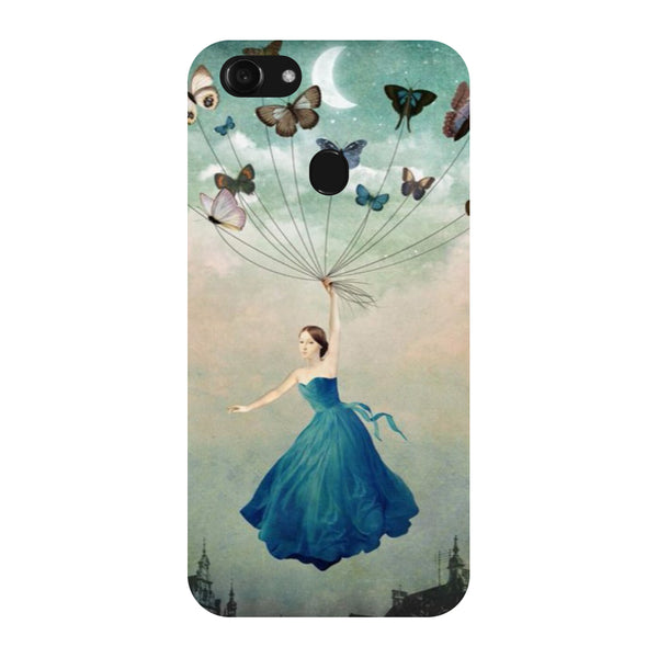 Hamee - Butterflies - Designer Printed Hard Back Case Cover for Oppo F5