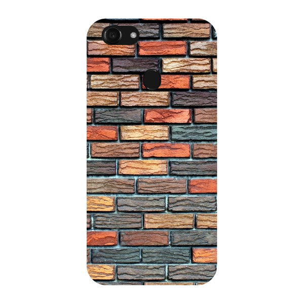 Hamee - Bricks - Designer Printed Hard Back Case Cover for Oppo F5