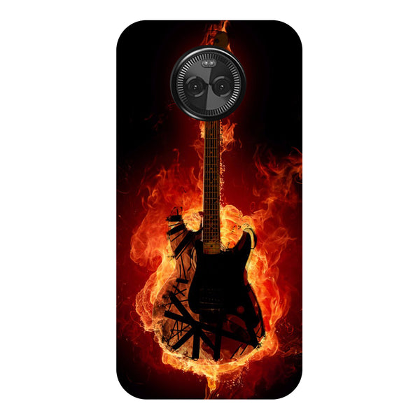Hamee - Guitar - Designer Printed Hard Back Case Cover for Moto X4