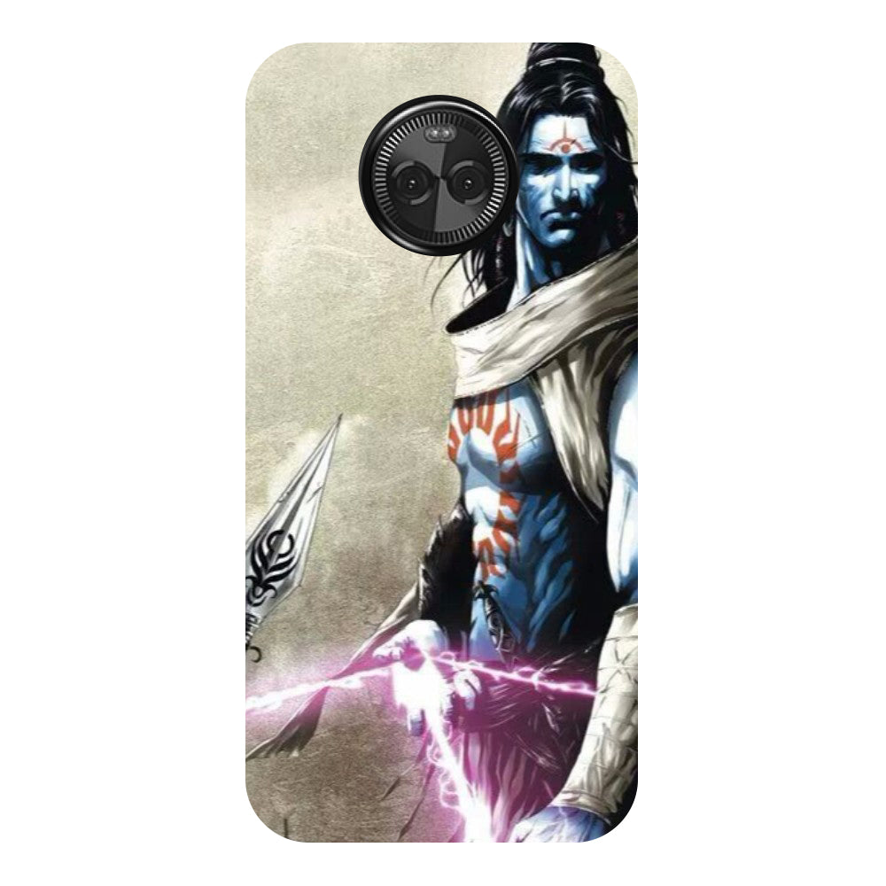 Hamee - Blue Mahadev - Designer Printed Hard Back Case Cover for Moto X4-Hamee India
