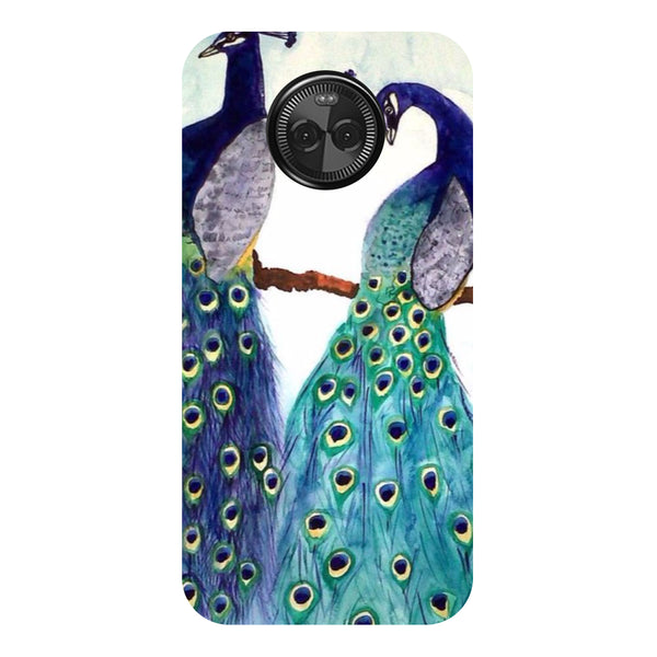 Hamee - Peacock Pair - Designer Printed Hard Back Case Cover for Moto X4-Hamee India