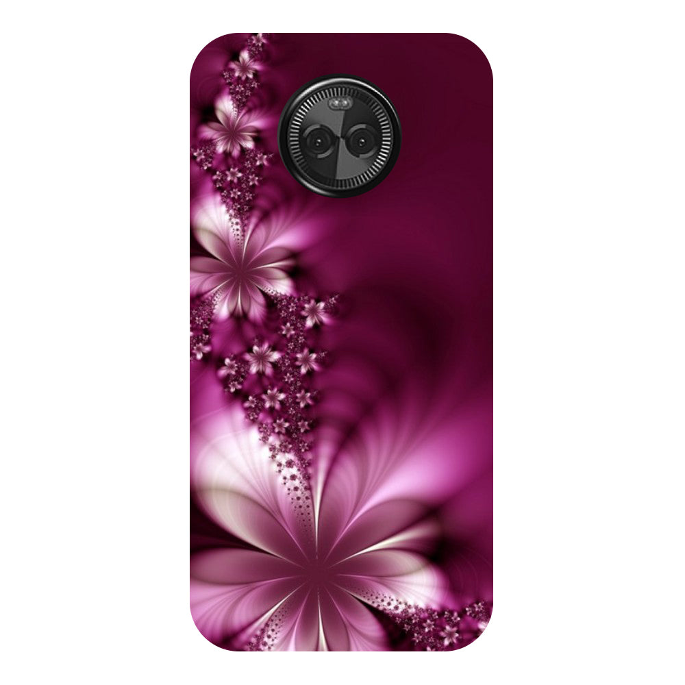 Hamee - Purple Flower - Designer Printed Hard Back Case Cover for Moto X4-Hamee India