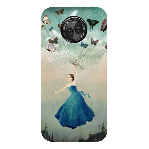 Hamee - Butterflies - Designer Printed Hard Back Case Cover for Moto X4