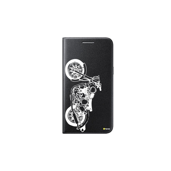 Hamee - Bullet - Printed Black Leather Wallet Flip Cover for OnePlus 3T-Hamee India