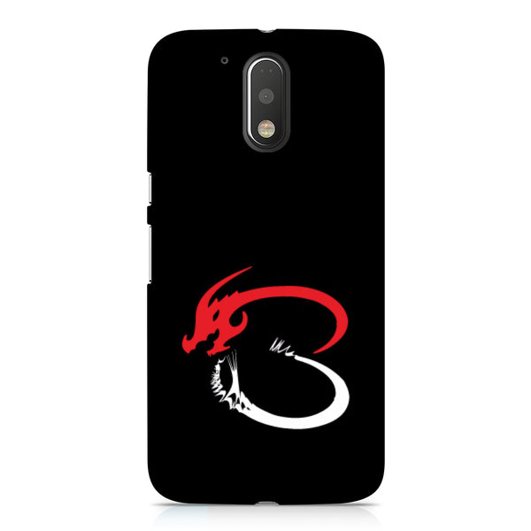 Hamee - Dragon Alphabet 'B' - Printed Hard Back Case Cover for Motorola Moto E3 Power-Hamee India