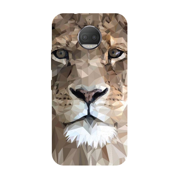 Hamee - Lion - Designer Printed Hard Back Case Cover for Moto G5s Plus