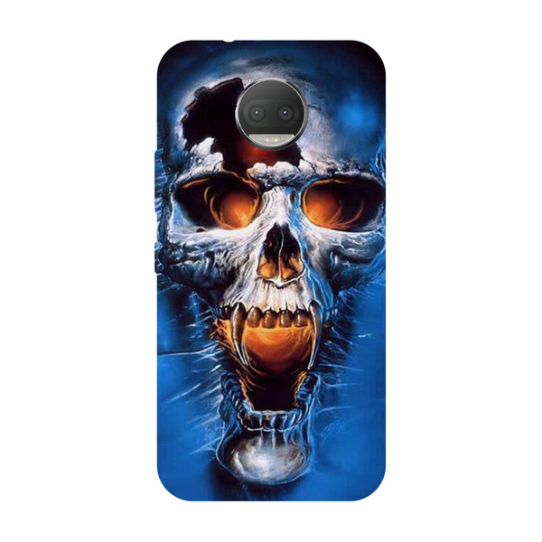 Hamee - Skull - Designer Printed Hard Back Case Cover for Moto G5s Plus