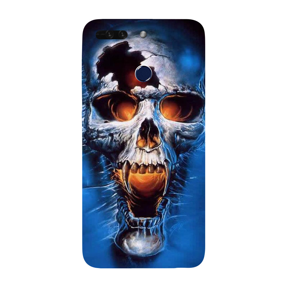 brand new f9c2b 2c858 Hamee - Skull - Designer Printed Hard Back Case Cover for Honor 8 Pro