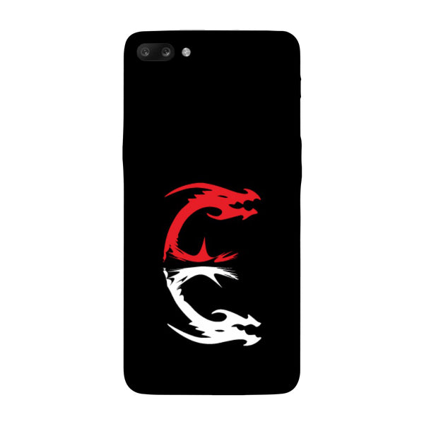 Hamee - Dragon Alphabet 'E' - Printed Hard Back Case Cover for Oppo R11-Hamee India