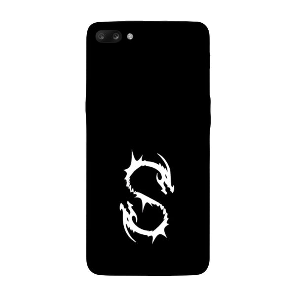 Hamee - Dragon Alphabet 'S' - Printed Hard Back Case Cover for Oppo R11-Hamee India