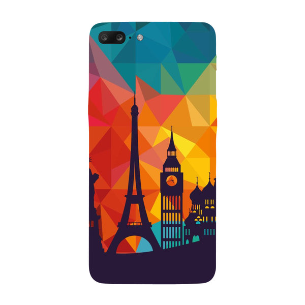 Hamee - City Life - Designer Printed Hard Back Case Cover for One Plus 5