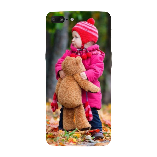 Hamee - Teddy Bear - Designer Printed Hard Back Case Cover for One Plus 5