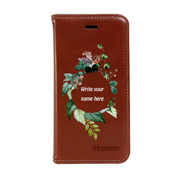 Hamee - Wreath - Premium PU Leather Flip Diary Card Pocket Case Cover Stand for Mi Mix 2