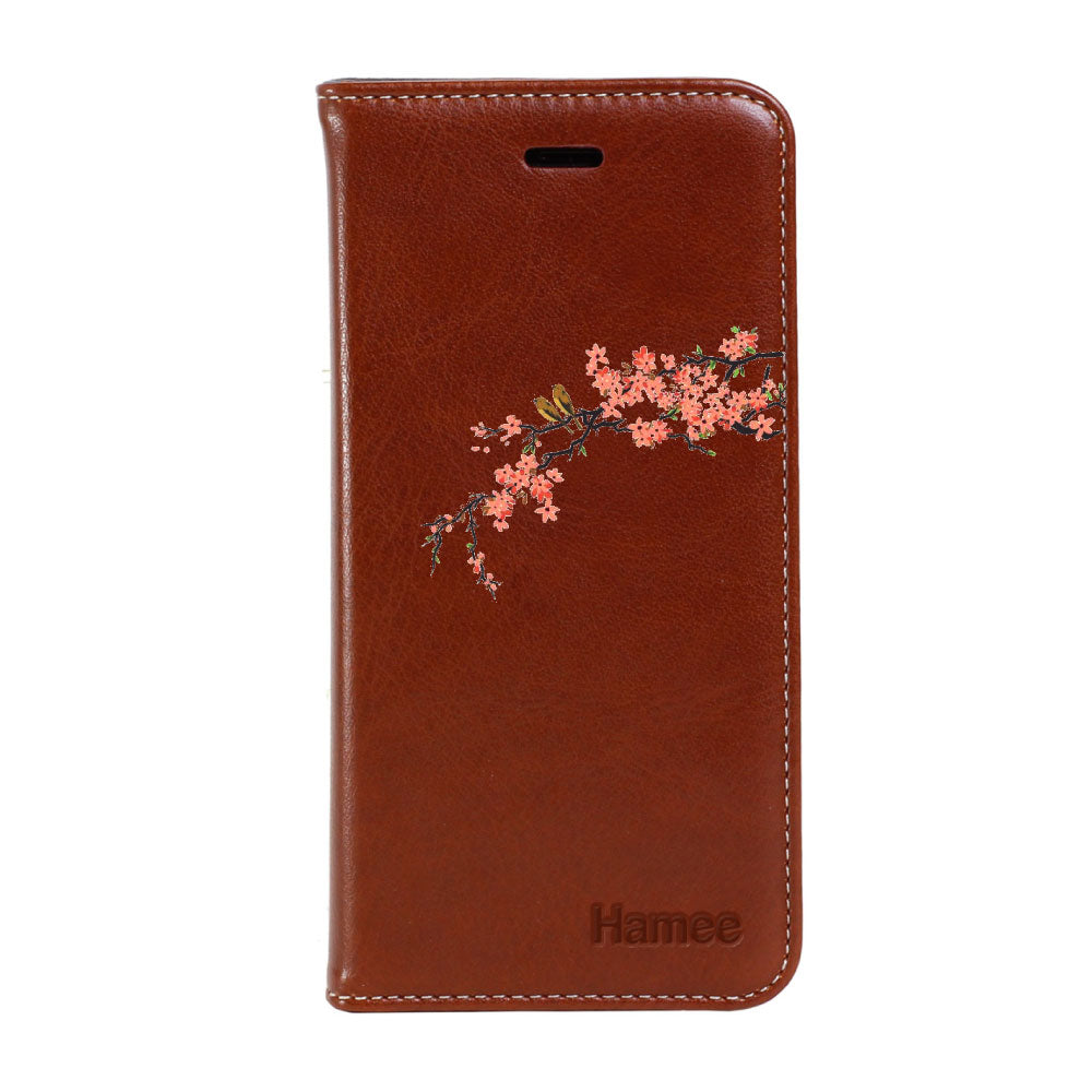 Hamee - Bird Branch - Premium PU Leather Flip Diary Card Pocket Case Cover Stand for Mi Mix 2-Hamee India