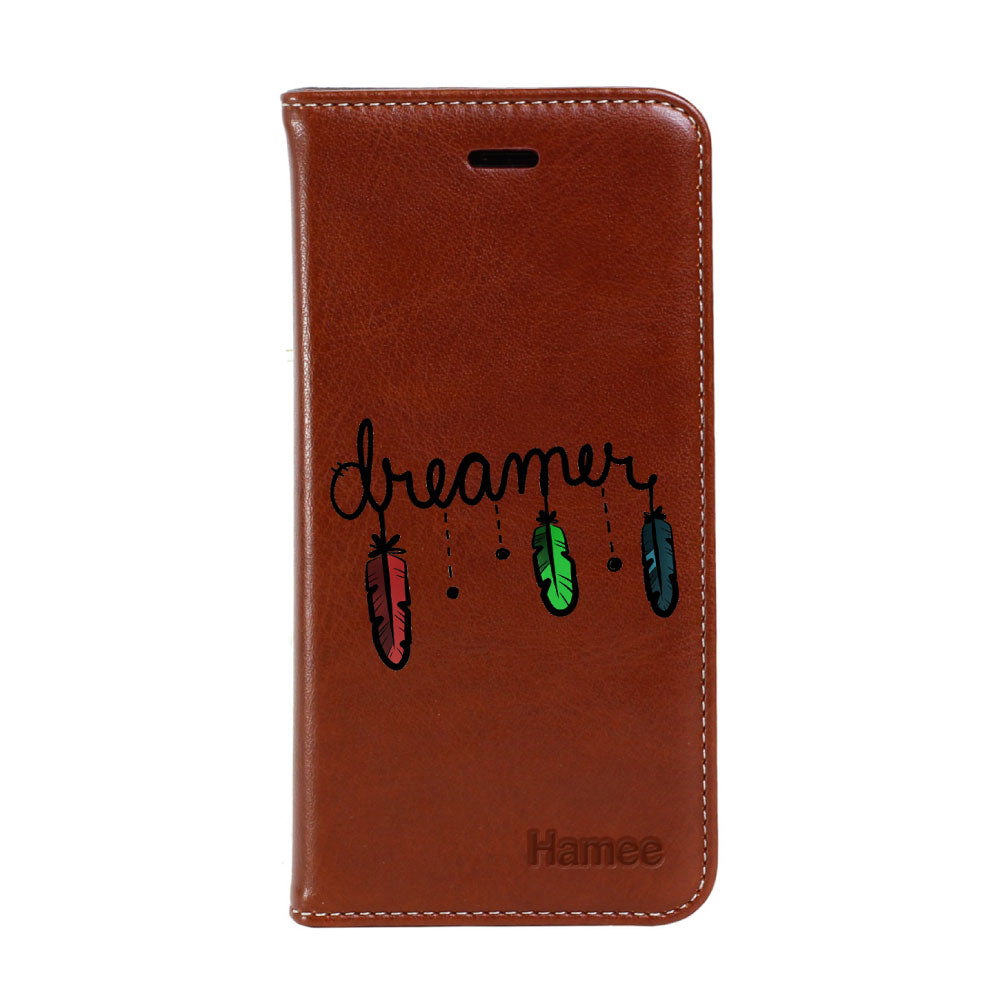 Hamee - Dreamer Feather - Premium PU Leather Flip Diary Card Pocket Case Cover Stand for Mi Mix 2-Hamee India