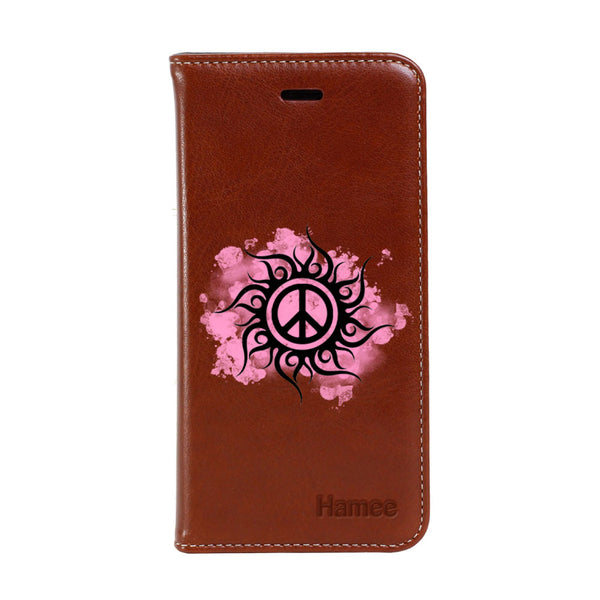 Hamee - Peace - Premium PU Leather Flip Diary Card Pocket Case Cover Stand for Mi Mix 2