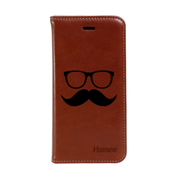 Hamee - Moochie Specs - Premium PU Leather Flip Diary Card Pocket Case Cover Stand for Mi Mix 2