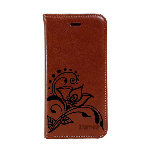 Hamee - Big Flower - Premium PU Leather Flip Diary Card Pocket Case Cover Stand for Apple iPhone X