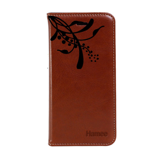 Hamee - Top Small Flower - Premium PU Leather Flip Diary Card Pocket Case Cover Stand for Mi Mix 2