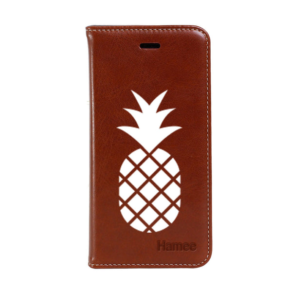 Hamee - Pineapple - Premium PU Leather Flip Diary Card Pocket Case Cover Stand for Mi Mix 2