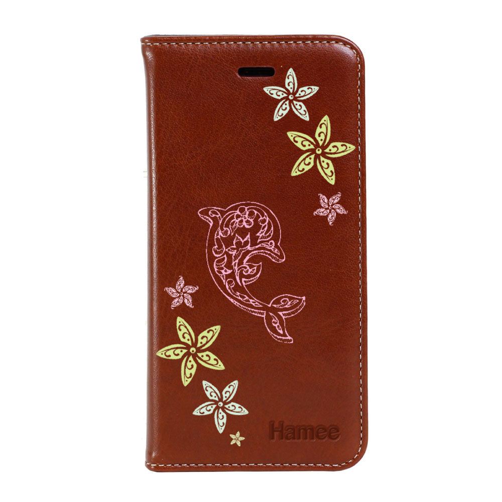 Hamee - Dolphin - Premium PU Leather Flip Diary Card Pocket Case Cover Stand for Mi Mix 2-Hamee India