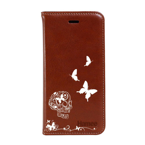 Skull Samsung Galaxy Note 9 Flip Cover-Hamee India