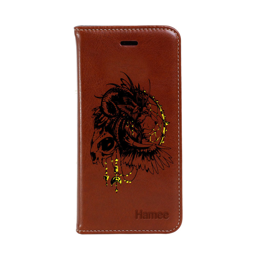 Hamee - Lion - Premium PU Leather Flip Diary Card Pocket Case Cover Stand for Mi Mix 2-Hamee India