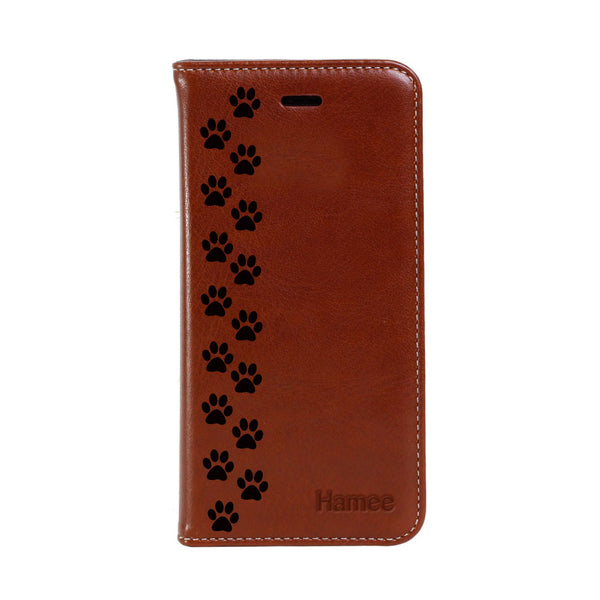 Hamee - Paws - Premium PU Leather Flip Diary Card Pocket Case Cover Stand for Mi Mix 2