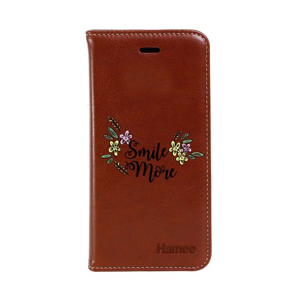 Hamee - Smile More - Premium PU Leather Flip Diary Card Pocket Case Cover Stand for Mi Mix 2
