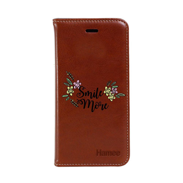 Smile More Samsung Galaxy Note 9 Flip Cover-Hamee India