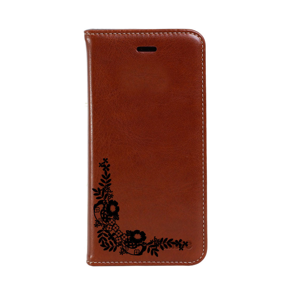 Hamee - Corner Flowers - Premium PU Leather Flip Diary Card Pocket Case Cover Stand for Mi Mix 2-Hamee India