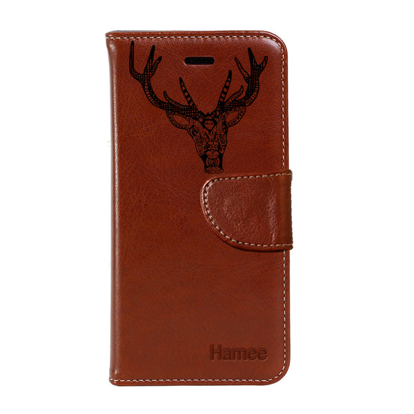 Hamee - Reindeer - Premium PU Leather Flip Diary Card Pocket Case Cover Stand for Mi Mix 2