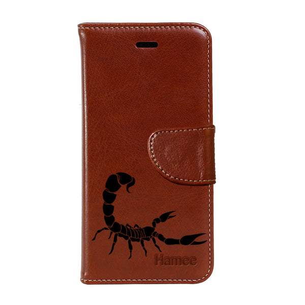 Hamee - Scorpion - Premium PU Leather Flip Diary Card Pocket Case Cover Stand for Mi Mix 2