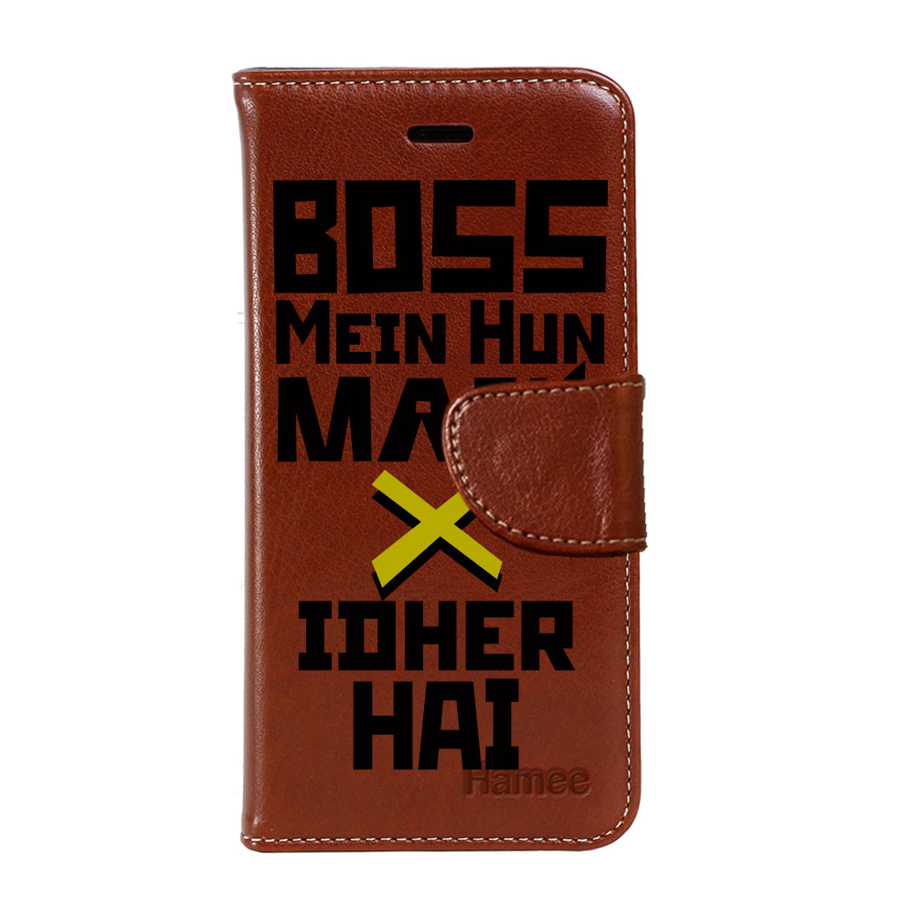 Hamee - Boss - Premium PU Leather Flip Diary Card Pocket Case Cover Stand for Mi Mix 2-Hamee India