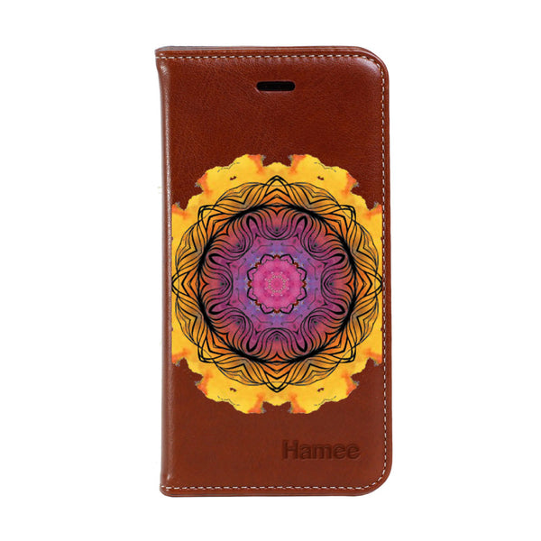 Hamee - Yellow Splash - Premium PU Leather Flip Diary Card Pocket Case Cover Stand for Mi Mix 2