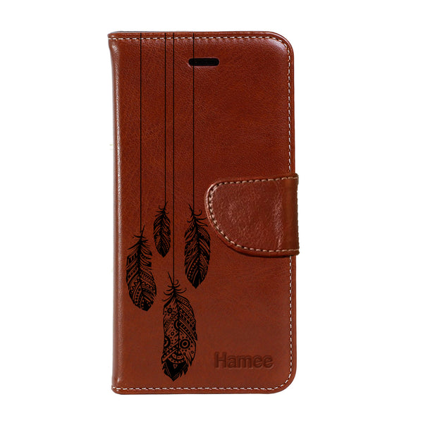 Hamee - Low feathers - Premium PU Leather Flip Diary Card Pocket Case Cover Stand for Mi Mix 2