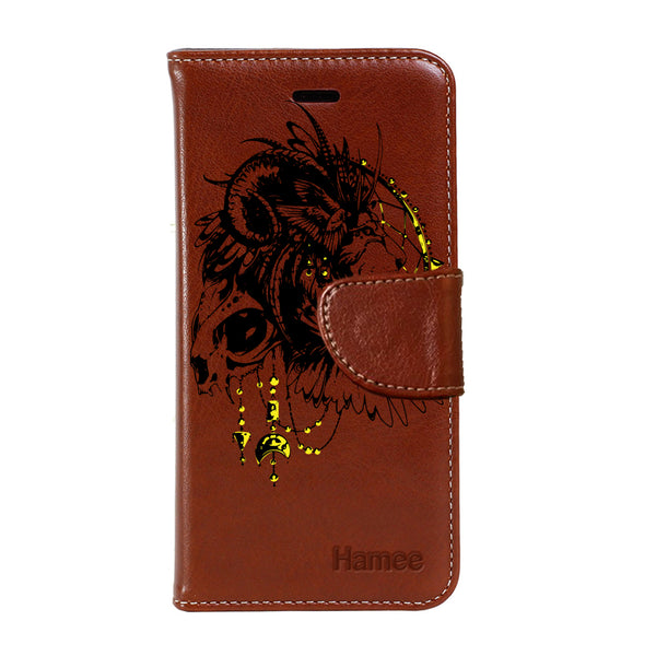 Hamee - Lion D�cor - Premium PU Leather Flip Diary Card Pocket Case Cover Stand for Mi Mix 2