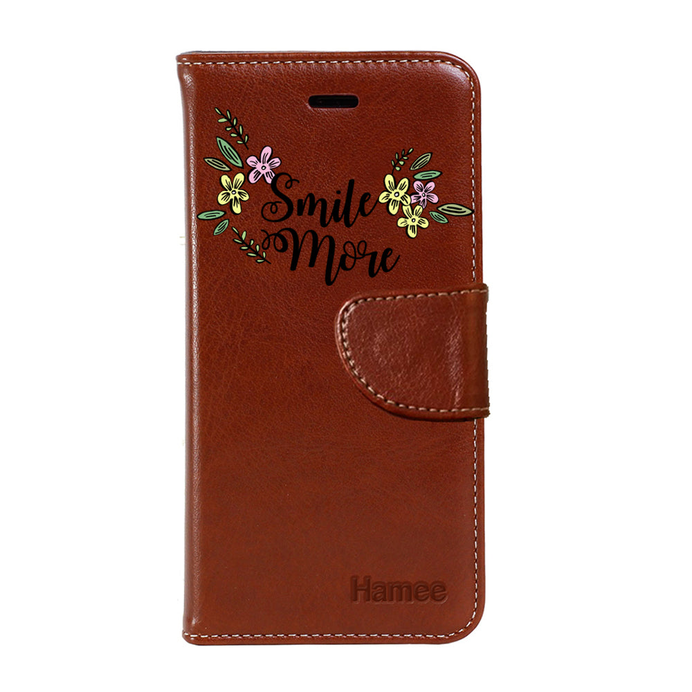 Hamee - Smile - Premium PU Leather Flip Diary Card Pocket Case Cover Stand for Mi Mix 2-Hamee India