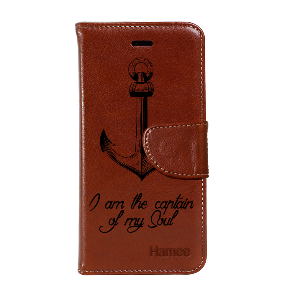 Hamee - Anchor - Premium PU Leather Flip Diary Card Pocket Case Cover Stand for Mi Mix 2-Hamee India