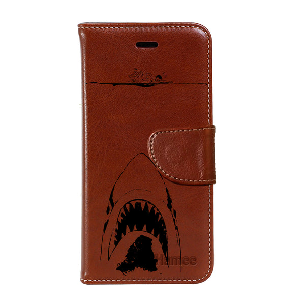 Hamee - Shark - Premium PU Leather Flip Diary Card Pocket Case Cover Stand for Mi Mix 2